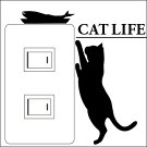 ウォールステッカーCATLIFE(キャットライフ)お魚欲しい【スイッチ/猫/楽天/動物/壁シール/アニマル】【おすすめ】【お得】【犬や猫を買っているペット好きな方に買って頂きたい】【プレゼントにもどうぞ】【7月中は送料無料】
