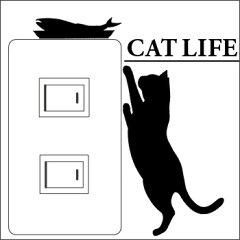 ウォールステッカー CAT LIFE(キャットライフ) お魚欲しいウォールステッカー CAT LIFE(...