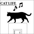 ウォールステッカーCATLIFE(キャットライフ)お散歩【スイッチ/猫/楽天/動物/壁シール/アニマル】【おすすめ】【お得】【犬や猫を買っているペット好きな方に買って頂きたい】【プレゼントにもどうぞ】【7月中は送料無料】