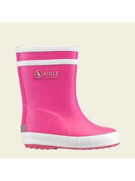 [Rakuten Fashion]ベビーフラック ラバーブーツ AIGLE エーグル シューズ レインブーツ ピンク レッド ブラック イエロー シルバー【RBA_E】【SALE/