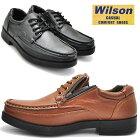 Wilson(ウイルソン)ファスナー付/ウォーキングシューズ/超軽量/紐靴/レース/No1601