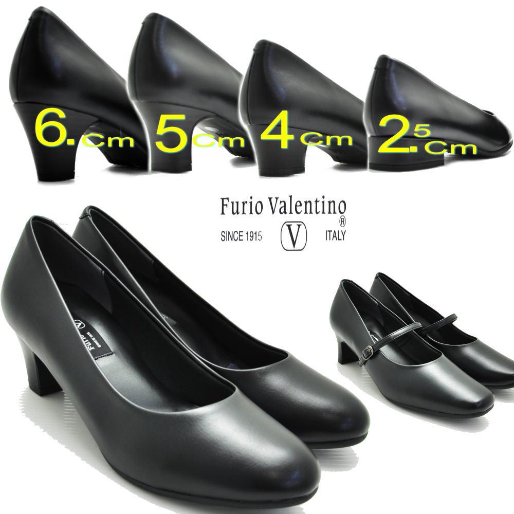 レディース靴, パンプス Furio Valentino3E4E2.5cm4cm5cm5.5c m