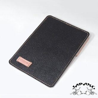"革蛸☆KWATAKO JAPANG*WAKASHO KIKAKU Natural plant Tannin tanned leather & KUROZAN Cowhide100% Card case ""般若HANNYA-Black""l Made in JAPAN★Daytona Bros publication product"