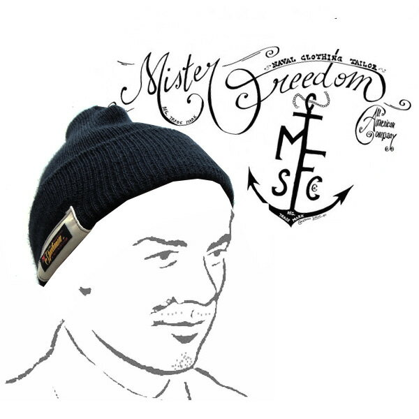 メンズ帽子, ニット帽 Mr.FREEDOMMFSC(Sportsman) Made in U.S.A.MFSC WOOL WATCH CAP Lot.02269-128)NAVY
