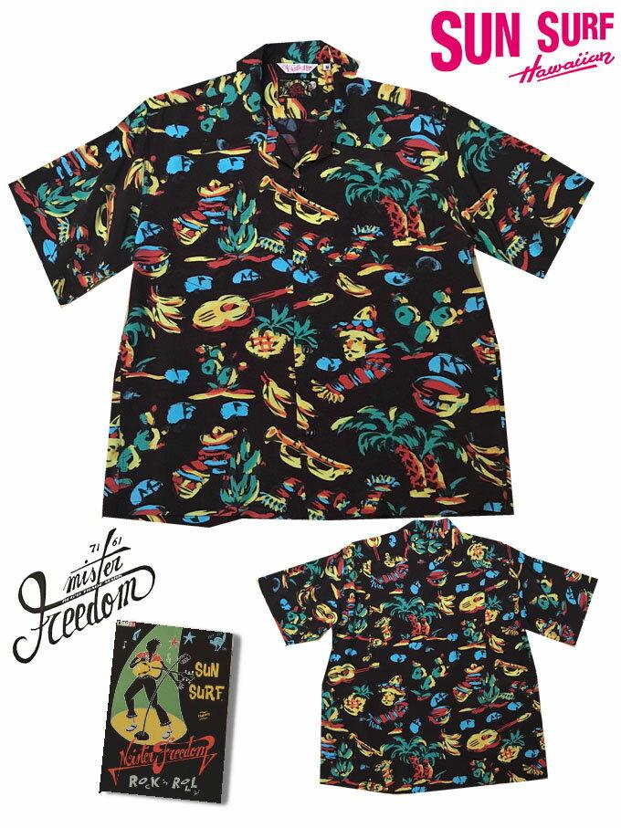 トップス, カジュアルシャツ SUN SURF x MISTER FREEDOM ROCKNROLL SHIRT YUCATAN SS38090-119)BLACK