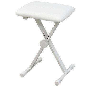 【送料込】KIKUTANI キクタニ KB-60 WHT(ホワイト) 4段階高さ調整 折り畳みイス キーボードベンチ ピアノ椅子【smtb-TK】