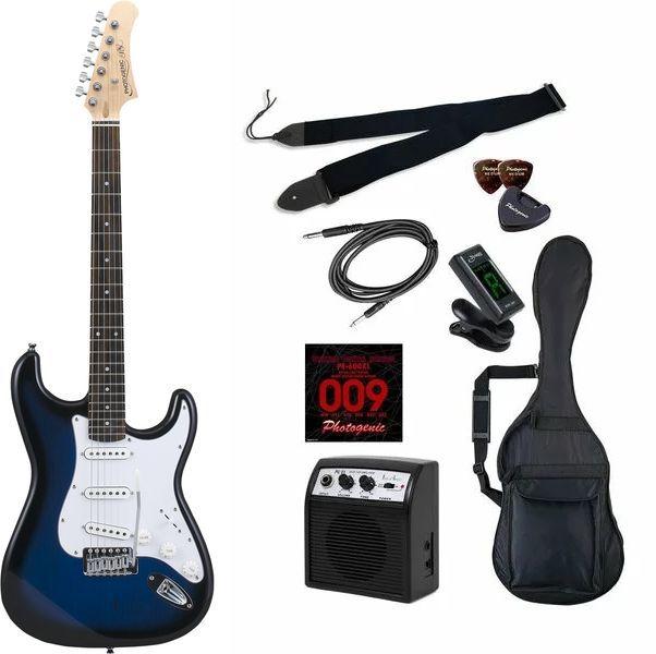 セット, エレキギターセット 9Photogenic ST-180BLS smtb-TK