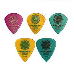 【メール便・送料無料・代引不可】【お試しセットH】MASTER8JAPANINFINIXHARDPOLISH/RUBBERGRIPJAZZIIIXL0.88mm1.0mm1.2mm+ティア0.8mm1.0mm5種各1枚計5枚セットギターピック【smtb-TK】