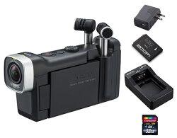 【送料込】【追加充電式バッテリー+BT-02充電器+ACアダプター+SDHCカード/32GB付】ZOOMズームQ4n音にこだわるクリエイターのためのビデオレコーダー【smtb-TK】