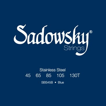 【ポイント5倍】【メール便・送料無料・代引不可】【1セット】Sadowsky/サドウスキー SBS45B Blue [45-130] ステンレス 5弦ベース弦【smtb-TK】