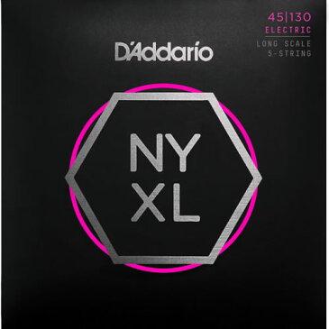 【ポイント5倍】【メール便・送料無料・代引不可】【2セット】D'Addario ダダリオ NYXL45130 Regular Light ロングスケール 5弦 ベース弦【smtb-TK】