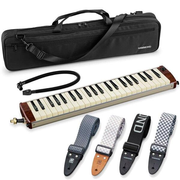 込  純正ストラップ付(4種類より選択) SUZUKIスズキHAMMONDPRO-44Hv2ピックアップマイク内蔵エレアコ鍵盤