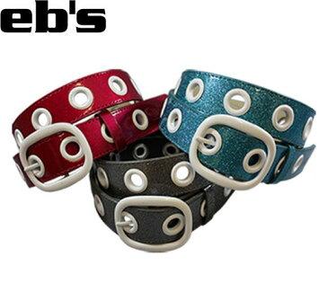 eb's エビス ベルト GLITTER RING BELT:全3色