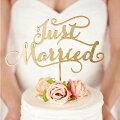 Justmarriedケーキトッパーウェディングケーキ結婚式リゾート