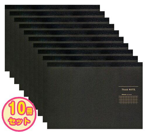 ナカバヤシ A4サイズ・ヨコ・ロジカル・シンクノート RP-A402DN ブラック・グレー ...