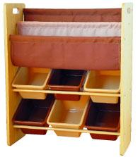 【送料無料】リトルプリンセス ブック&小物収納ケース チョコレートブラウン&カフェオレ 591123