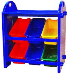 リトルプリンセス ブロックトレイ付き ミニ収納ケース ブルー 4100025