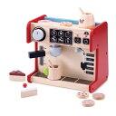 wonderworld おままごとシリーズ オールインワン・コーヒーショップ TYWW4567 / 木のおもちゃ 木製 タイマーが回転 スチーマー ミルクディスペンサー お店屋さんごっこ 3歳ごろ〜