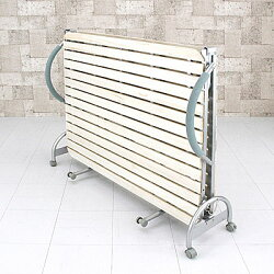 折りたたみ式すのこベッドセミダブルサイズ幅125cm簡易ベッド折り畳みベッドセミダブルベッド天然木製♪