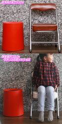 6脚セット!ミニパイプ椅子携帯用チェアコンパクトチェア折りたたみ椅子子ども用チェア子供用パイプイス折畳み式♪【送料無料!(一部地域を除)】