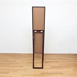 スタンドミラー姿見アンティーク調全身鏡玄関ミラールームミラー飛散防止フィルム加工天然木製♪