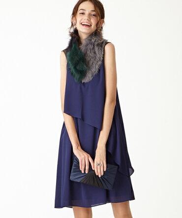 c85ca1cbd519c セール チュール×ビジュー・ジョーゼットドレス ロングドレス エメ ...