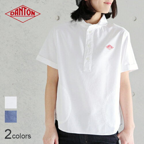 DANTON ダントン 半袖丸襟ポケット付プルオーバーシャツ #JD-3565YOX・COC[ダント...
