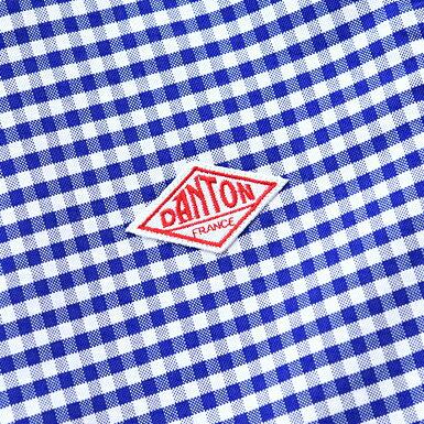 DANTON ダントン 半袖丸襟ポケット付プルオーバーシャツ ギンガム #JD-3565TRD [ ダントン レディース 丸襟 半袖 ラウンドカラー コットン 2017SS]