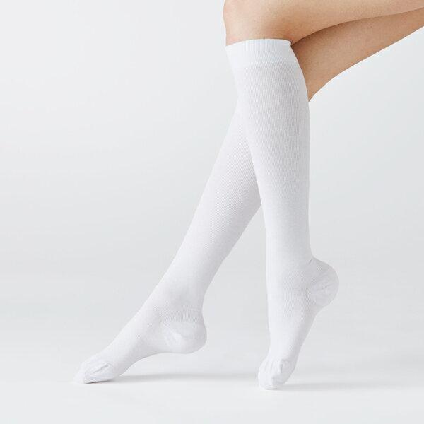 リラクサン(RELAXSAN)着圧ソックス綿混ひざ下タイプ30Hpa140デニール【ホワイトネイビーブラック】|着圧ハイソックス着圧ストッキングひざ下ストッキングソックス靴下くつしたくつ下着圧靴下