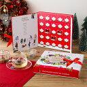 English Tea Shop X'MAS コレクション アドベントカレンダーリボン ホワイト / レッド | クリスマス X'mas コレクション フレーバー ギフト イングリッシュティーショップ 有機栽培 紅茶 有機JAS ギフト プレゼント