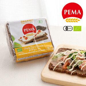 ペーマ(PEMA) 有機全粒ライ麦パン フォルコンブロート チアシード 375g(6枚入り) / ライ麦パン ドイツパン 有機全粒ライ麦 有機JAS EU認証 オーガニック ぱん 朝食 非常食 カナッペ サンドイッチ