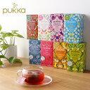 Pukka パッカハーブス 有機ハーブティー 8種 | パッカ ハーブティー 有機栽培 オーガニック 紅茶 ノンカフェイン カフェインレス ティーバッグ フルーツティー ブレンドティー