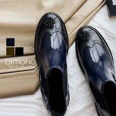 ショートレインブーツレインブーツレディースショートサイドゴアオックスフォード靴軽量防水撥水長靴