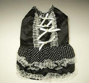 掘り出し物超お買い得品です!限定セール!アネスト ドットドレス 黒 Lサイズ NO.6308 A-2...