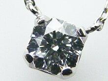 0.217ctE,SI1,クリスタルムーンPT製4本爪ダイヤモンドペンダント