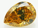 1.11ct FANCY.DEEP.BROWNISH.ORANGY.YELLOW,SI2,GIA,ペア ダイヤモンドルース