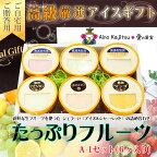 高級厳選【たっぷりフルーツアイスクリーム&シャーベットギフト】A-1(6個入)【