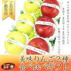 【旬の美味赤りんご&青りんご味比べギフト】きおう【大玉3個】(岩手・青森産)サンつがる【大玉3個】(長野・青森産)
