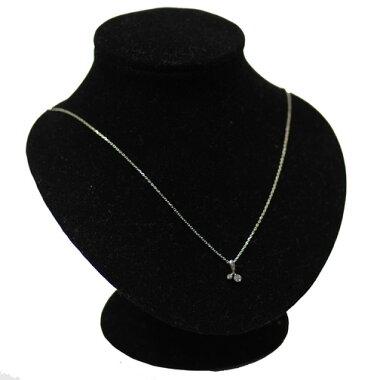 【VENDOMEAOYAMA】ヴァンドーム青山ダイヤモンド0.18ct2PネックレスK18WG【】