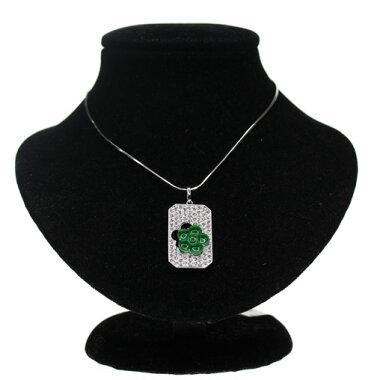 【ジュエリー】天然翡翠ヒスイひすい0.808ctダイヤモンド1.16ctネックレスPT850<スライド式アジャスター付>【】