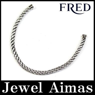 【FRED】フレッドフォース10FORCE10スティールケーブルブレス18サイズシルバーブレスレット750WG【】