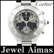 【Cartier】カルティエ ヴァンティアン マスト21 クロノスカフ W10125U2 クロノグラフ デイト ブラック 文字盤 SS ステンレス メンズ クォーツ【中古】【腕時計】