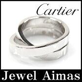 【Cartier】カルティエ パリ リング K18 750 WG ホワイトゴールド #51 11号 パリリング 指輪 小物 アクセサリー 【中古】