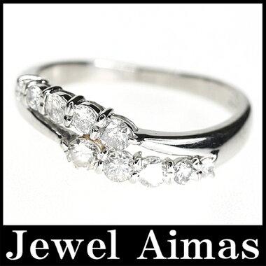【ジュエリー】ダイヤモンド0.5ct10周年アニバーサリーリングPT90012号<10周年記念日>【】