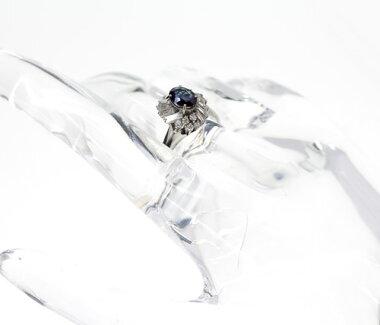 【ジュエリー】アレキサンドライト0.78ctダイヤモンド0.9ctリングPT90016号【】