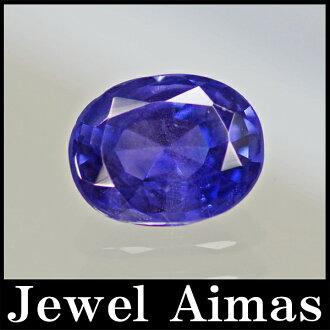 從沒有暖氣薩菲爾露絲 1.575 ct 藍寶石喀什米爾松喀什米爾藍寶石 < 頭髮/無加熱/採暖 >