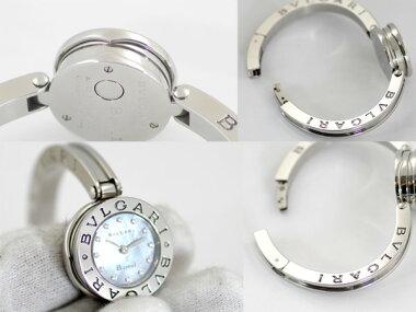 【BVLGARI】ブルガリB-zero1ビーゼロワンBZ22S11Pダイヤブラックシェル文字盤SSステンレスレディースクォーツ【中古】【腕時計】