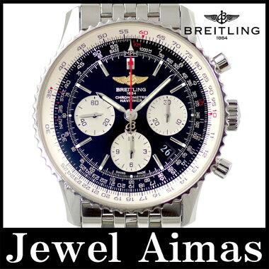 【BREITLING】ブライトリングAB0120ナビタイマーファイターズクロノグラフデイトバーインデックス黒ブラック文字盤SSステンレスメンズ自動巻き【】【腕時計】