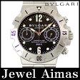 【BVLGARI】ブルガリ ディアゴノ スクーバ クロノグラフ SCB38S 200m防水 デイト ブラック 文字盤 SS ステンレス メンズ 自動巻き【中古】【腕時計】