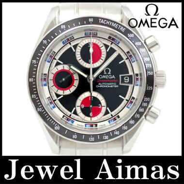 【OMEGA】オメガスピードマスターデイト3210-52限定カラーレッドブラック文字盤SSステンレスメンズ自動巻き3210.52【】【腕時計】